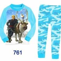 j2 piyama frozen kristoff olaf/ baju tidur anak import