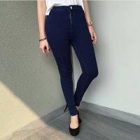 Jual high waist jeans navy Murah