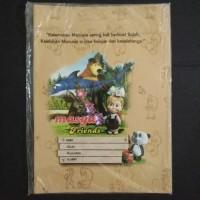 Sampul Buku Coklat Kuarto Masha