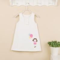 Baju Anak - Mom and Bab White Dress (MB-020)