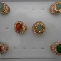 Ring Xuping Gold Cowok Full Zircon - Cincin Emban Ikat Cangkang