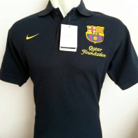 Polo Shirt Barcelona Qatar Foundation Lengan Pendek