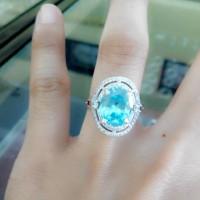 harga Cincin Perak Wanita Batu Blue Topas Tokopedia.com
