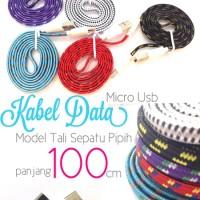 harga Kabel Data Tali Sepatu / Micro Usb Charger 1 Meter Tokopedia.com