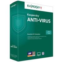 Kaspersky Anti Virus 3 user for 1 year