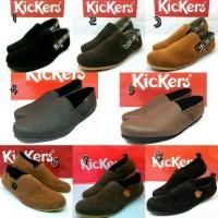 Sepatu Casual Slip On Slop Santai Pria Kickers