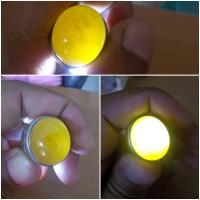 Cincin Batu Kladen Kuning Kunir Asal Pacitan
