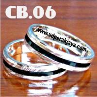 Cincin Couple Perak Bakar CB.06