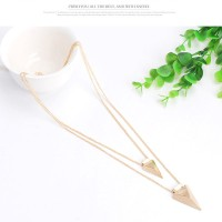 KALUNG KEREN GAUL ZARA FOREVER 21 IMPORT SEGITIGA TRIANGLE NECKLACE