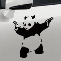 Stiker Dinding / Mobil / Motor Motif Panda Memegan