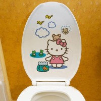 Stiker Dinding / Kloset Duduk Motif Hello Kitty Wa