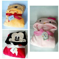 Handuk Kimono Mickey mouse Winnie the pooh Hello Kitty / Hooded Wrap