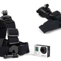 Double Head Mount 360 Rotary Adjustable Head Strap Belt Mount Go Pro