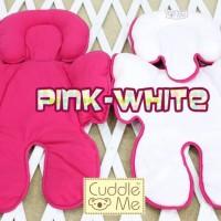 Alas Stroller Seatpad Cuddle Me Pink White
