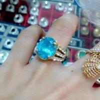 harga Cincin Wanita Batu Blue Topas Lux Tokopedia.com