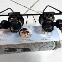 harga KACAMATA LOUPE REPARASI AKIK BATU ZOOM 20X DENGAN LED uang jam hobi Tokopedia.com