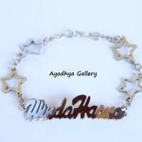 Gelang Nama Bintang - Perhiasan Gelang Nama Monel Silver