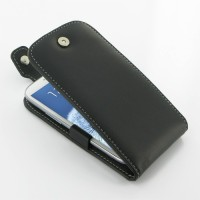 PDair Leather Case Samsung Galaxy S3 - Flip Top Type - Black