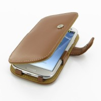PDair Leather Case Samsung Galaxy S3 - Book Type - Brown