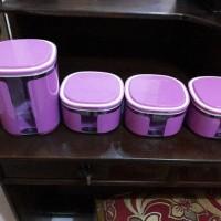 window canister ungu tupperware