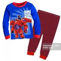 Baby GAP Pajamas - Baymax with Black and Red Stripes Pants