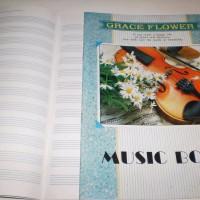 Music Book Buku Tulis Not Balok