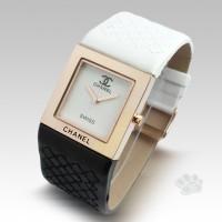 Chanel Black White Kulit Kotak Wanita