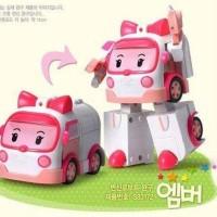Robot Ambulance car Amber robocar mobil anak kids toys girls mainan