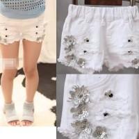 AnnBaby flower white denim pants