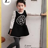 GW SE3 L Kids ~ Dress +Legging Black Rose