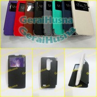 Lg Leon Flip Leather Case View Cover