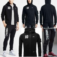 HOODIE SWEATER NIKE FC AUTHENTIC BLACK GO