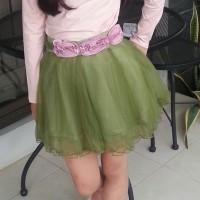 Annica Flower Green Tutu Skirt / Rok Anak Perempuan