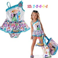 Jual Baju Anak - Dress girl lovely swimsuit frozen blue white Murah