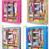 desktop storage cloth shoes box organizer rak lemari baju sprei frozen