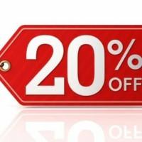 Discount 20% untuk smua produk moorlife