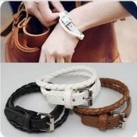 Gelang Kulit Anyam Lilit (Leather Bracelet) import korea cina - FAS004