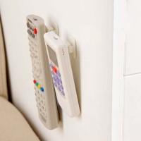 Gantungan remote control AC TV DVD di dinding dengan perekat - HHM021