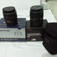 Lensa Sigma 4.5mm F2.8 EX DC Circular Fish Eye & Tokina ATX DX 107