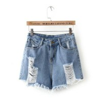WST 9351 Blue Denim Ripped Shorts (size S.M.L)