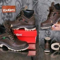 harga Sepatu Boot Safety Kickers / kulit / gunung outdor touring Tokopedia.com