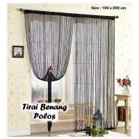 harga Tirai Benang Motif Polos Black (motif Polos Lebih Tebal & Elegen) Tokopedia.com