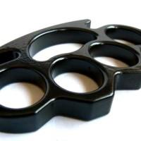 Brass knuckle tebal satuan black ninja boxing komando survival