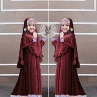 VD baju muslim anak Princess Kids Maroon