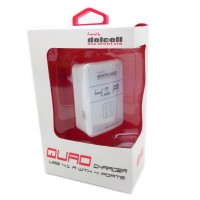 Adaptor Quad Charer Delcell 4port 4,1A