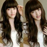D46 Long curly,daily wig,black/brown,wig import,cosplay