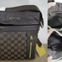 Tas Selempang Kulit Asli Branded Louis Vuitton - LV 877 BROWN