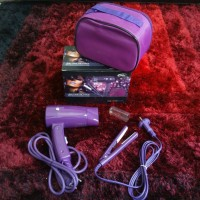 Hair dryer + catokan mini ( HAIR CARE GIFT PACK) by heles beauty