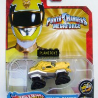 Hot Wheels Power Rangers Megaforce Yellow Ranger - Tiger Zord Mattel