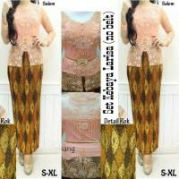 Set Kebaya Larisa + Rok Batik Prada + Kamisol (no belt)